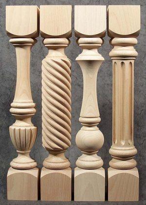 Gedrechselte Säulen