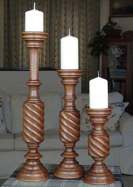 Kerzenstaender aus Holz KSB MOF