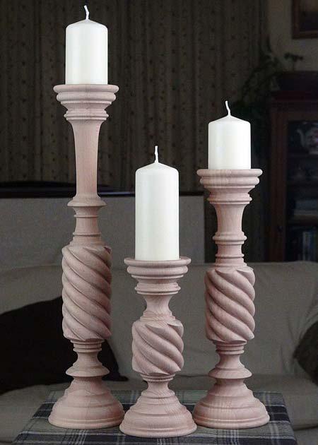Kerzenstaender aus Holz KSB unb