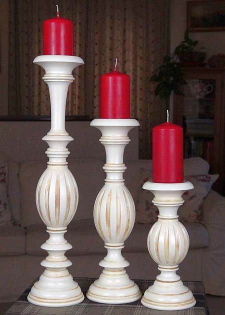 Kerzenstaender aus Holz KSC MOF